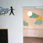 Pictura pe pereți la centrul Helen Doron Timișoara.
