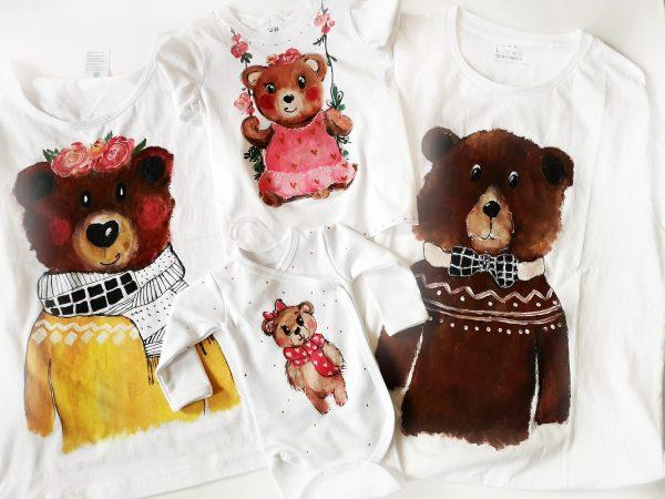 set tricouri de familie cu ursi