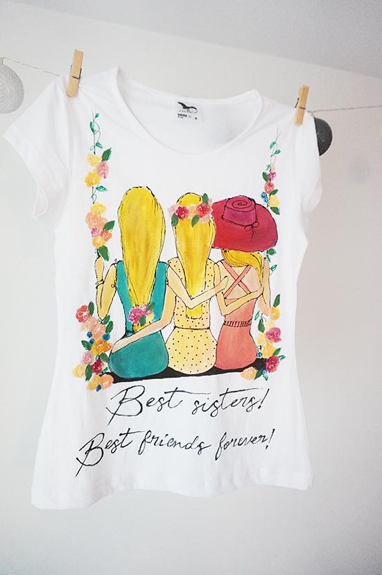 Set tricouri pentru surori. Cadouri handmade, personalizate.