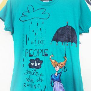 Tricou despre ploaie, pentru oameni pozitivi.