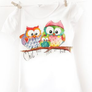 Tricoul Familia de bufnițe Owl you need is love.