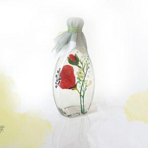 Sticluță mărturie pictată cu maci