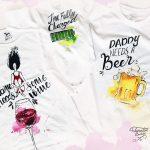 Tricouri pictate asortate pentru familie