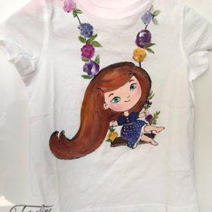 tricou fetita in leagan