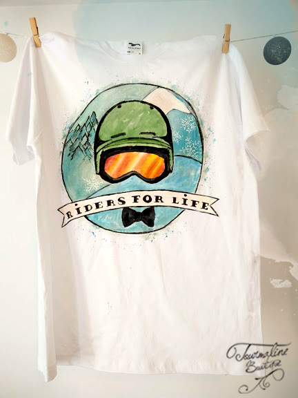 Tricou sport extrem Riders for Life. Tricou personalizat.