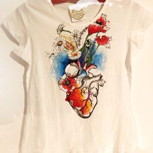 tricou inima care infloreste